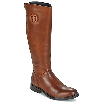 Chaussures Femme Bottes ville Tommy Hilfiger HOLLY Cognac