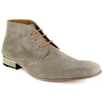 Chaussures Homme Boots Peter Blade Bottine  Cuir FLORIDA Taupe