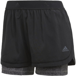 Vêtements Femme Shorts / Bermudas adidas Performance Short Two-in-One Printed Noir