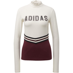 Vêtements Femme Sweats adidas Originals T-shirt Adibreak Blanc / Marron