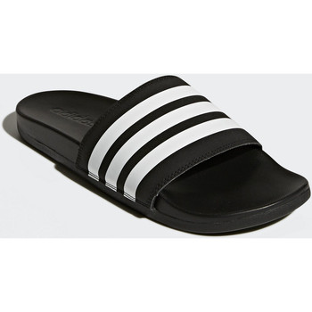 Chaussures Homme Tongs Adidas Essentials Sandale Adilette Cloudfoam Plus Stripes Noir / Blanc / Noir