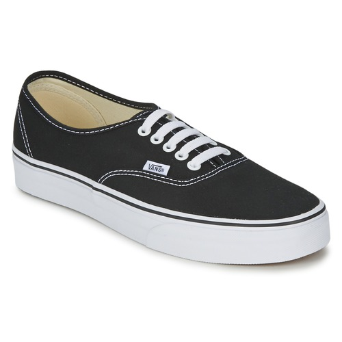 vans authentic noir livraison gratuite avec chaussures baskets basses 58 50. Black Bedroom Furniture Sets. Home Design Ideas