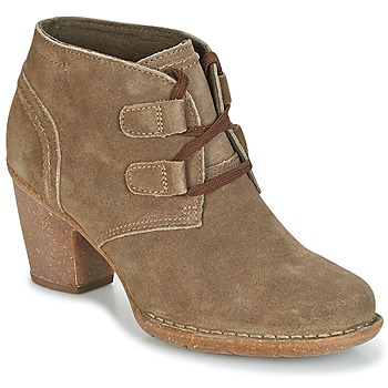Chaussures Femme Bottines Clarks CARLETA LYON  Khaki Suede