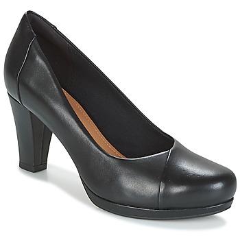 Chaussures Femme Escarpins Clarks CHORUS CAROL Black Leather