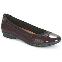 Chaussures Femme Ballerines / babies Clarks NEENAH GARDEN  Aubergine