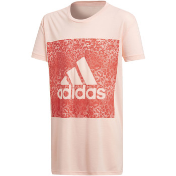 Vêtements Fille T-shirts manches courtes adidas Performance T-shirt Essentials Logo in the Box Rose