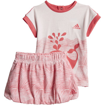 Vêtements Fille Ensembles de survêtement adidas Performance Ensemble Summer Fun Rose / Blanc