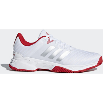 Chaussures Homme Baskets basses adidas Performance Chaussure Barricade Court 3 Blanc / Argent / Rouge