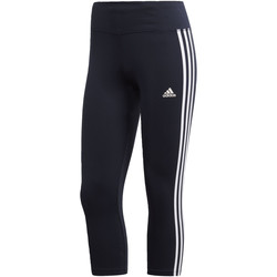 Vêtements Femme Leggings adidas Performance Tight 3/4 Designed 2 Move Climalite 3-Stripes Noir / Bleu / Blanc