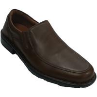 Chaussures Homme Mocassins Fleximax Homme de chaussure avec une pelle lisse marrón