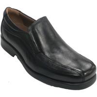 Chaussures Homme Mocassins Fleximax Chaussure cnpala lisse et coutures latér negro