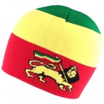 Accessoires textile Homme Bonnets Nyls Création Bonnet Court rouge Jamaique avec Lion Rouge