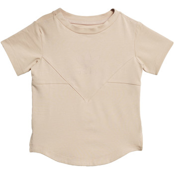 Vêtements Fille T-shirts manches courtes adidas Originals T-shirt Beige