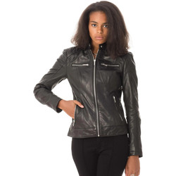 Vêtements Femme Vestes en cuir / synthétiques Daytona 73 JODY LAMB CASTEL BLACK Noir