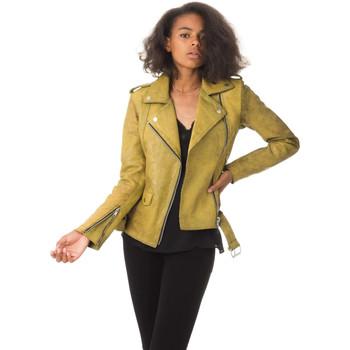 Vêtements Femme Vestes en cuir / synthétiques Ladc DIANE MYSTIK YELLOW Jaune