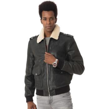 Vêtements Homme Vestes en cuir / synthétiques Ladc GARROS MYSTIK BLACK Noir