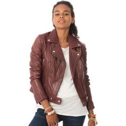 Vêtements Femme Vestes en cuir / synthétiques Rose Garden PANEMA LAMB CASTEL BURGUNDY Bordeaux
