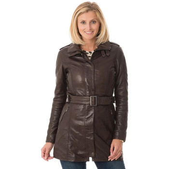 Vêtements Femme Vestes en cuir / synthétiques Rose Garden TWILIGHT LAMB RUBY BROWN Marron