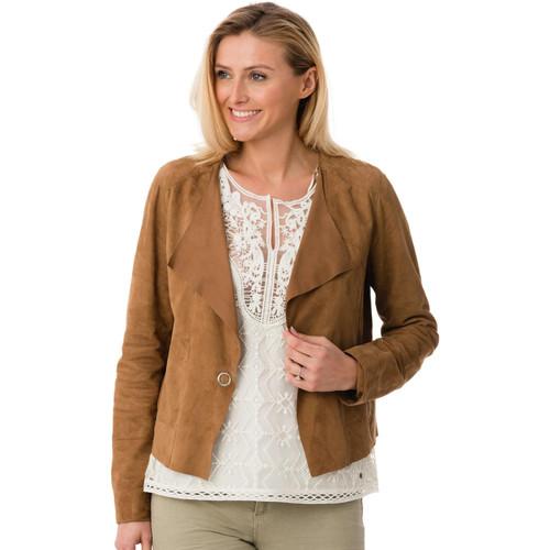 Vêtements Femme Vestes en cuir / synthétiques Oakwood DIVA TAN 515 Tan