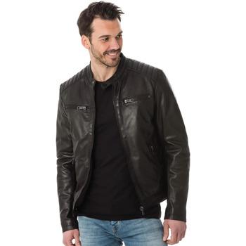 Vêtements Homme Vestes en cuir / synthétiques Serge Pariente SANTONE AG CHOCO BROWN Marron