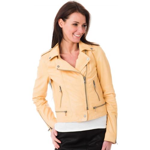 Veste femme jaune clair