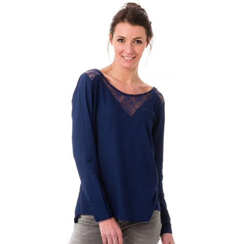 Vêtements Femme Débardeurs / T-shirts sans manche Kaporal ALBAN MARINE P17 Bleu marine