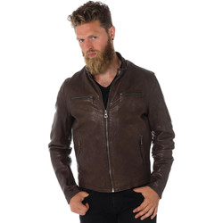 Vêtements Homme Vestes en cuir / synthétiques Daytona 73 TRITON COW VEG  DARK BROWN Marron