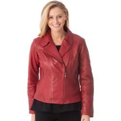 Vêtements Femme Vestes en cuir / synthétiques Existenz CINDY EXE DARKRED Rouge