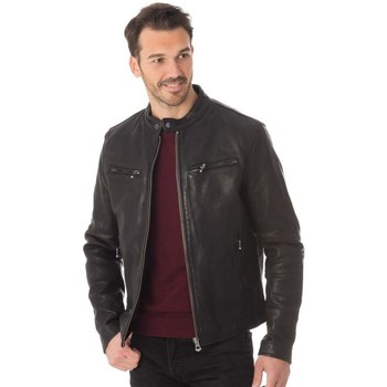 Vêtements Homme Vestes en cuir / synthétiques Daytona TRITON COW VEG  BLACK Noir