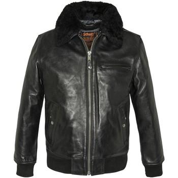 Vêtements Homme Vestes en cuir / synthétiques Schott LC1380 BLACK Noir