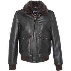 Vêtements Homme Vestes en cuir / synthétiques Schott LC5331X ANT.BROWN Marron foncé