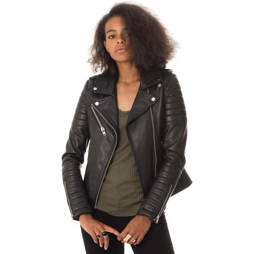 Girl Hipster Pariente En Noir Serge Vêtements Cuir Vestes 5zPwWq