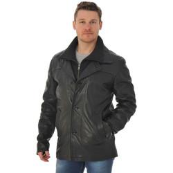 Vêtements Homme Vestes en cuir / synthétiques Daytona 73 ELEGANT IC COW AMERICA BLACK Noir