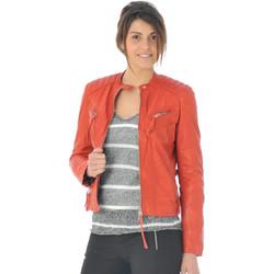 Vêtements Femme Vestes en cuir / synthétiques Redskins LOUNEW GLASGOW RED H15 Rouge
