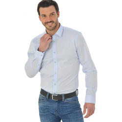 Vêtements Homme Chemises manches longues Chevignon DCCC005 BLEU CIEL 1052 Bleu clair