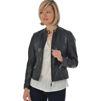 Vêtements Femme Vestes en cuir / synthétiques Gipsy ALVA LVTW BLACK Noir