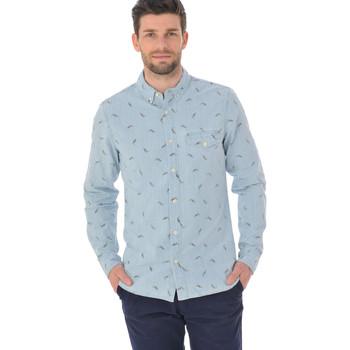 Vêtements Homme Chemises manches longues Chevignon BECCC023 BLEU Bleu