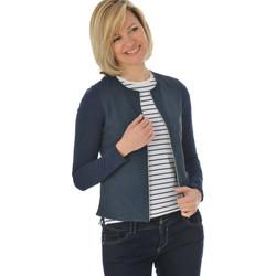 Vêtements Femme Vestes en cuir / synthétiques Oakwood CAMELIA PERFO BLEU MARINE 534 Bleu marine