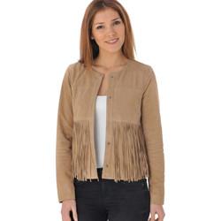 Vêtements Femme Vestes en cuir / synthétiques Oakwood INES BEIGE 513 Beige