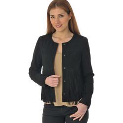 Vêtements Femme Vestes en cuir / synthétiques Oakwood INES NOIR 501 Noir daim