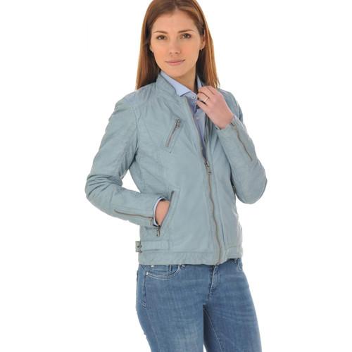 Vêtements Femme Vestes en cuir / synthétiques Oakwood HALL NEW BLEU CIEL 537 Bleu