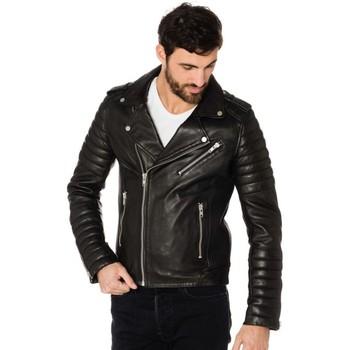Vêtements Homme Vestes en cuir / synthétiques Serge Pariente HIPSTER NOIR Noir/argent