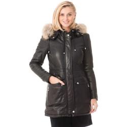 Vêtements Femme Vestes en cuir / synthétiques Rose Garden WHOOPI SHEEP VENNE BLACK Noir