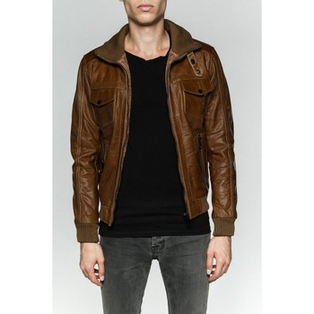 Vêtements Homme Vestes en cuir / synthétiques Serge Pariente TORNADE OXBLOOD Oxblood