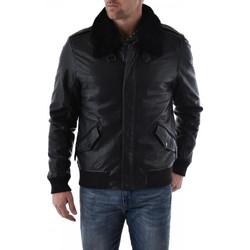 Vêtements Homme Vestes en cuir / synthétiques Gipsy LEO NSLBV W BLACK Noir