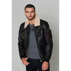 Vêtements Homme Vestes en cuir / synthétiques Daytona 73 MYTHIC FUR SHEEP PETROL BLACK Noir