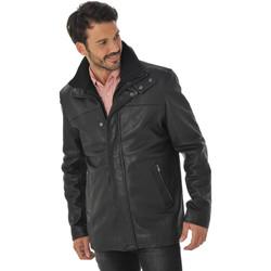 Vêtements Homme Vestes en cuir / synthétiques Daytona 73 BALZAC IC COW ADVENTURE BLACK Noir
