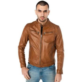 Vêtements Homme Vestes en cuir / synthétiques Daytona 73 DUSTIN SHEEP TIGER COGNAC Cognac