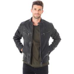 Vêtements Homme Vestes en cuir / synthétiques Daytona 73 DUSTIN SHEEP TIGER BLACK Noir