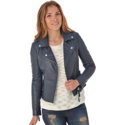Vêtements Femme Vestes en cuir / synthétiques Serge Pariente CITY GIRL NAVY GRAINE Bleu